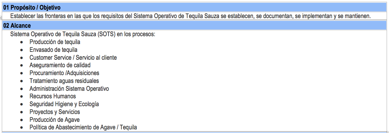 manual de administración sauza