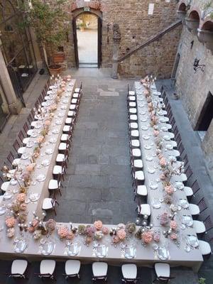 mesa para boda pequeña