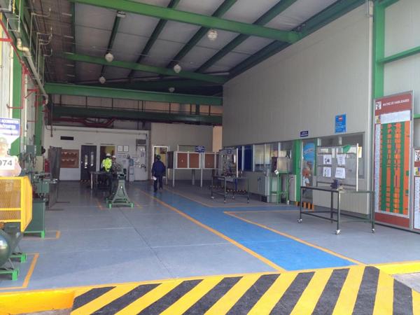 Maintenance area in the warehouse at Casa Sauza