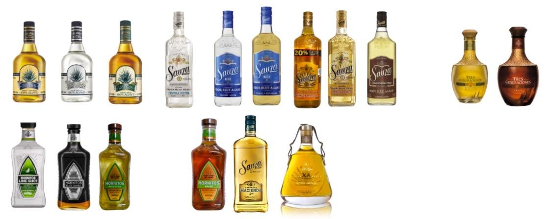 Botellas de tequila Casa Sauza