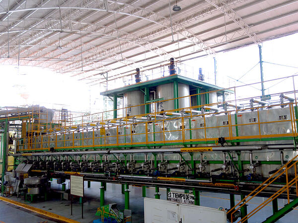 extracción azúcar de agave difusor casa sauza