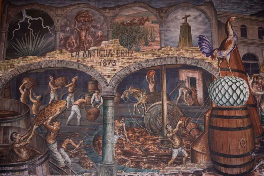 Mural en Casa Sauza