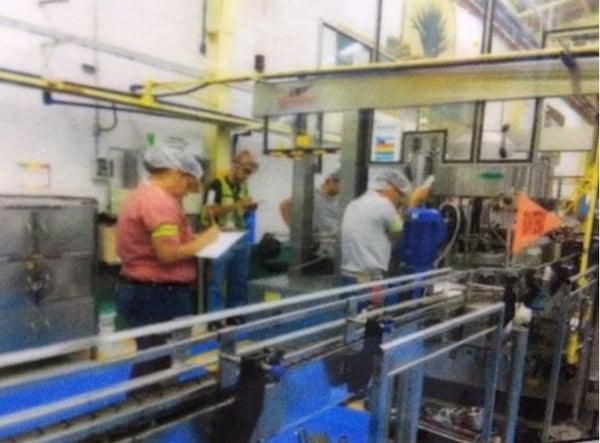bottling format change on production line