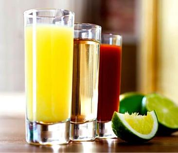 tequila trago estándar
