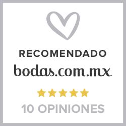Recomendación 5 estrellas bodas.com.mx