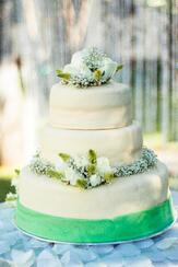 Pastel de boda en Casa Sauza