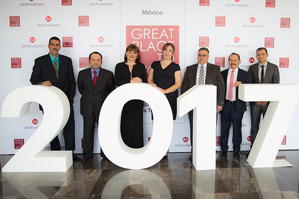 Casa Sauza lugar 9 del programa Great-Place-to-Work ®México 2017