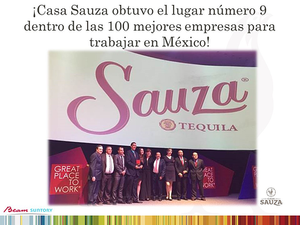 Casa Sauza got the 9th place in the Best Place to Work Mexico Award in 2017