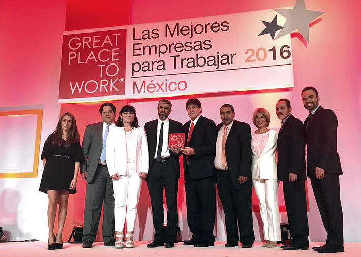 Great place to Work Award to Casa Sauza 2017 Mexico