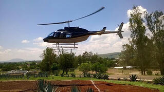 Helicopter to Tequila Jalisco