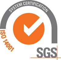 SAUZA SGS ISO 14001Certificate