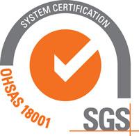 SAUZA SGS OHSAS 18001 Certificate
