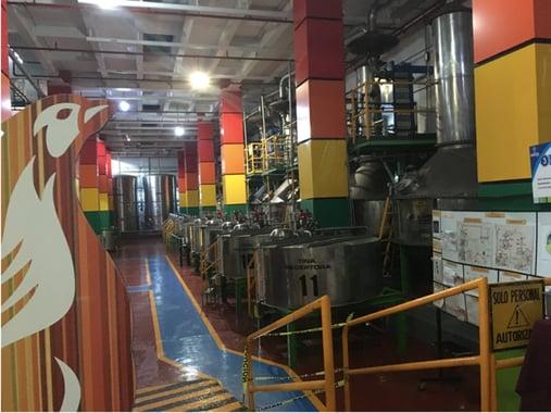 destilación del tequila Casa Sauza