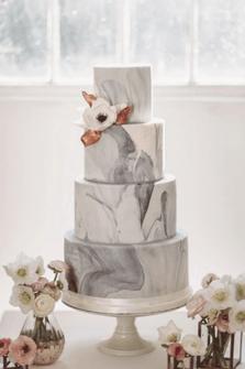 pastel de boda marmoleado