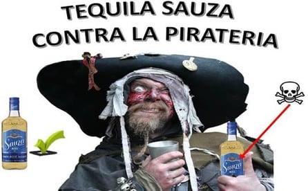 industria del tequila contra la piratería