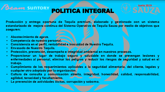 política integral tequila
