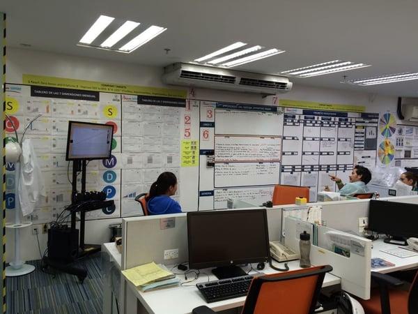 Innovative communication technology at Casa Sauza. Touch screens
